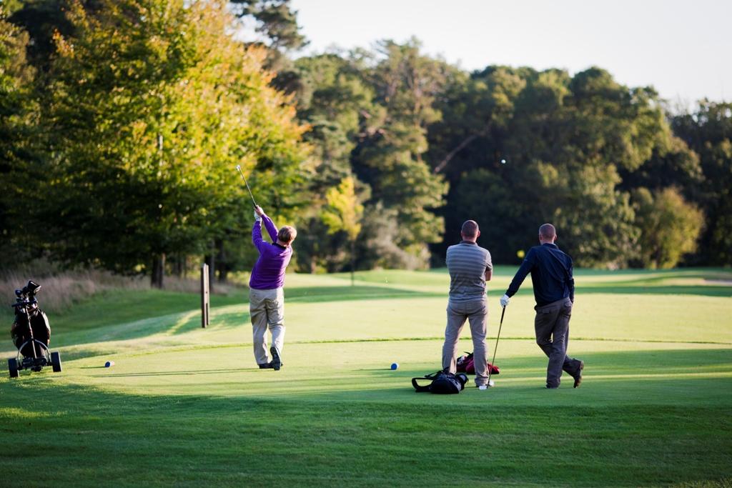 Teeing off at Fota Island Golf Club