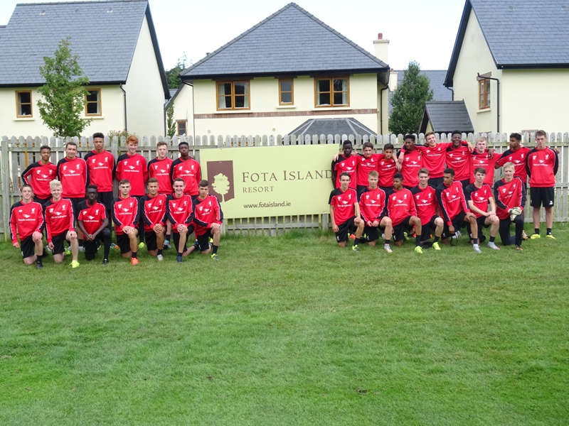 Liverpool Academy squad at Fota Island Resort